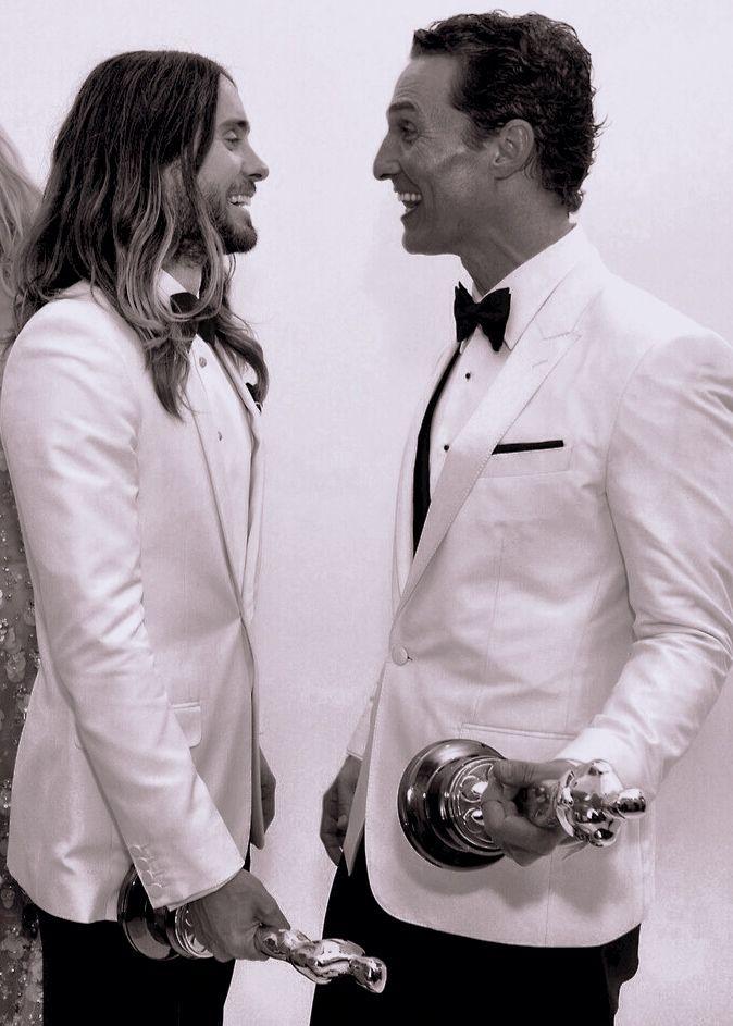 """Jared Leto y Matthew McConaughey, mejores Intérpretes masculinos, ambos por """"Dallas buyers Club"""""""