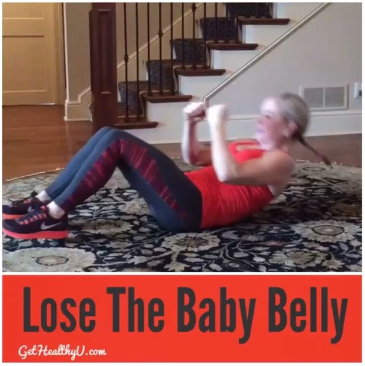 Can't get rid of that baby belly? Blast that fat and tighten your core with this ab workout video that will get you back better than ever!
