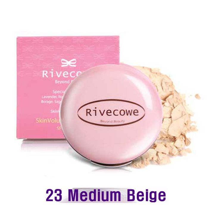 Rivecowe Skin Volume Powder Pact UV Protect SPF30PA++ Herb No.8 Medium Beig #23 #RIVECOWE