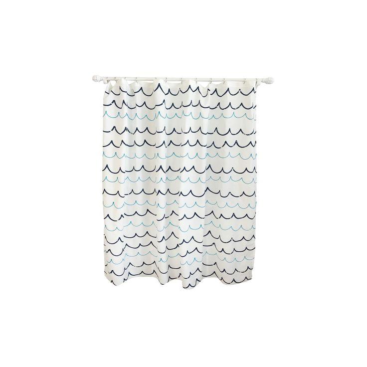 Wave Blue Shower Curtain - Pillowfort, Blue Lake