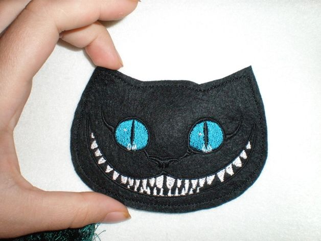 Cheshire cat , Appliqué, applicationen, patch