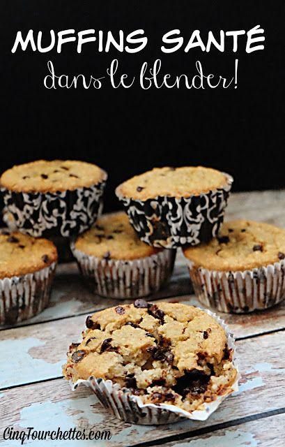 Cinq Fourchettes etc.: Muffins santé aux bananes dans le blender!
