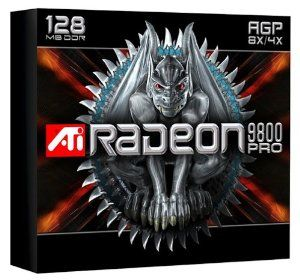 ATI Technologies 100-435002 Radeon 9800 Pro 128MB by ATI. $62.99. From the Manufacturer                 RADEON 9800 Series of visual processors is the most visually advanced 3-D performer on the planet, delivering an immersive, cinematic experience for the most demanding next-generation games with up to 256 MB of DDR memory and a 256-bit memory interface. Merging advanced stability with revolutionary features, RADEON 9800 Series is the only Visual Processing family in its 2n...