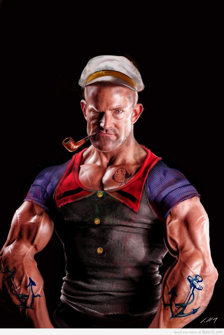 15 Cartoon Characters in Real Life Popeye was a character ... Popeye The Sailor Man And His Wife