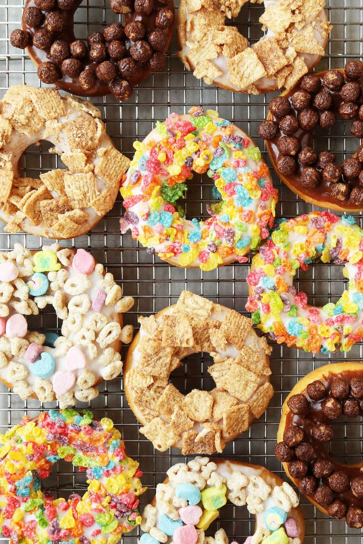 Breakfast Cereal Doughnuts, finally a valid excuse to eat doughnuts for…