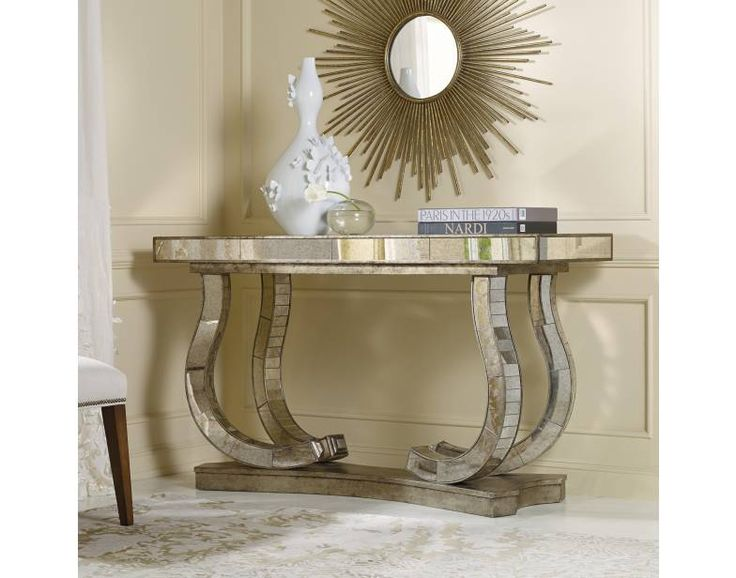 Show Stopper Mirrored Console | Hooker Furniture | Star Furniture | Hooker Furniture – Sam Moore – Bradington Young – Seven Seas