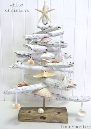 White Painted #Christmas-Driftwood Tree from Beachcomber.