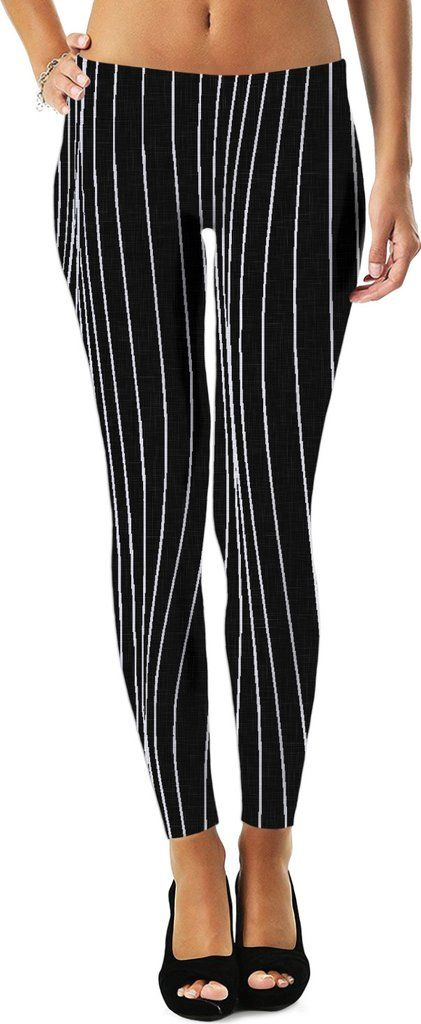 The Strings - asymetric black and white pattern, geometric themed leggings design  - Item printed by RageOn.com, also available at casemiroarts.com #style #design #cool #sexy #swag #fashion #accessories #clothing