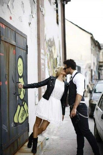 Urban prewedding photoshoot in Belgrade