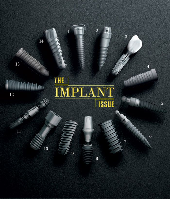 Dentaltown - The Implant Issue. I love August 2014 dentaltown implant issue at http://www.dentaltown.com/Dentaltown/magazine.aspx. One of our very best issues ever. Implant dentistry is exploding because CBCT surgical guides make placing implants ten times easier today than it was when I placed my first implant 27 years ago. Howard Farran DDS, MBA, DICOI