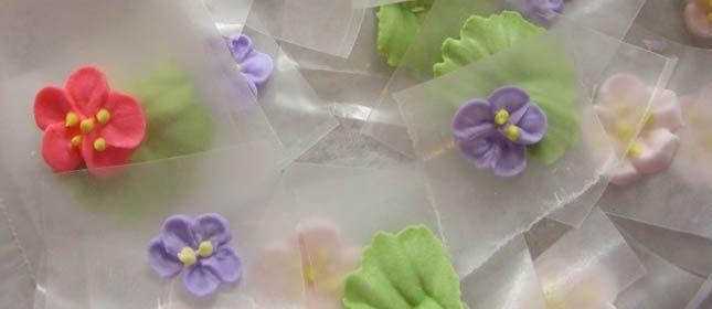 Flores de glaseado real