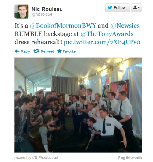 Newsies vs. BOM? I WANT TO SEE THIS.