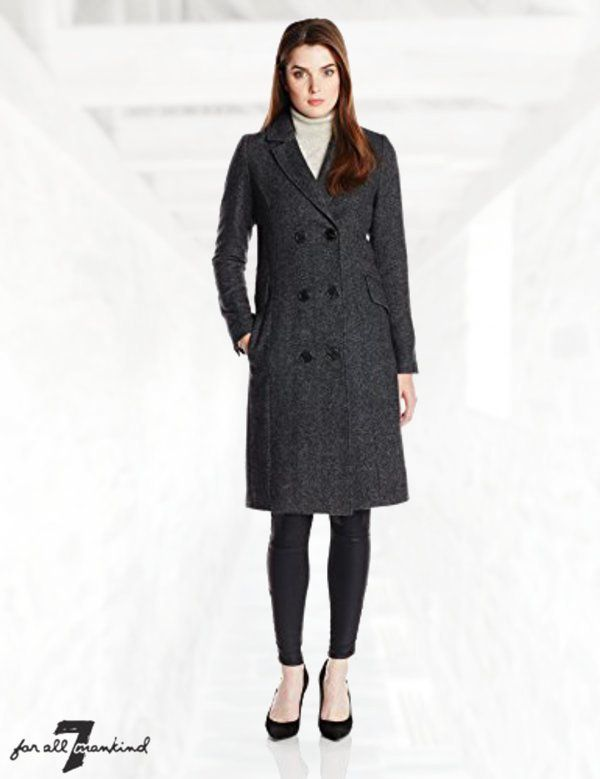 7 For All Mankind Women S Chesterfield Wool Tweed Coat