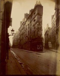 Eugene Atget Vieille Cour, 22 rue Quincampoix (Old Courtyard, 22 rue Quincampoix), French, 1908 or 1912