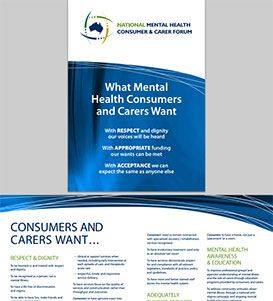 Image of 'National Mental Health Consumer and Carer Forum: What Mental Health Consumers and Carers want' pdf