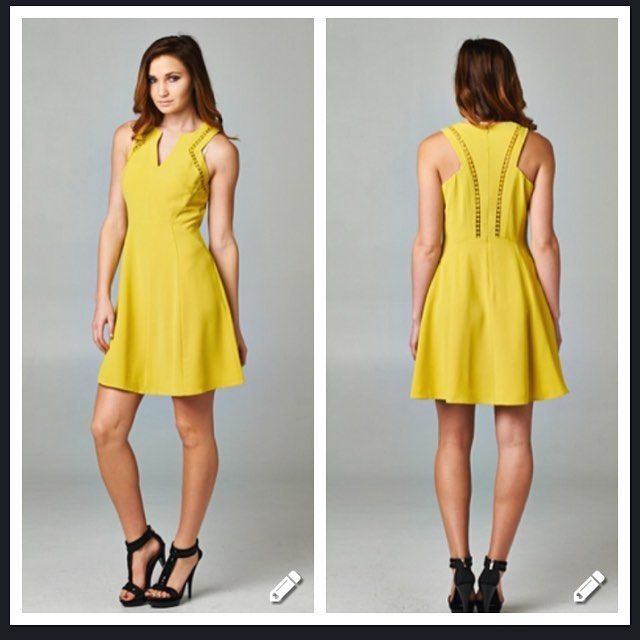 Stay cool in this #sunny yellow sundress!  Adorable embroidered cutouts!  Size Medium. $35 NWT check out #poshmark or #mercuri for more info!  Links in bio. . .  #staycool #fashion #sundress #yellow #happy #cool #style #busybees 🐝