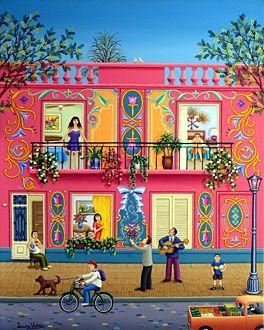 Serenade of Love by Laura Vidra - GINA Gallery of International Naive Art