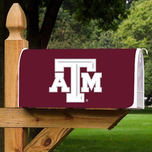 "Texas A&M Magnetic Mailbox Cover  ""Clings securely to mailbox  Includes cutout for postal alert flag.  18"""" x 22""""  Maroon and White  """