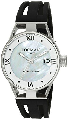 Locman Italy Women's 0521V02-00MA00SK Montecristo Lady Analog Display Quartz Black Watch * More info could be found at the image url.