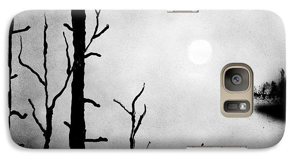 On The Edge Galaxy S7 Case Printed with Fine Art spray painting image On The Edge by Nandor Molnar (When you visit the Shop, change the orientation, background color and image size as you wish)
