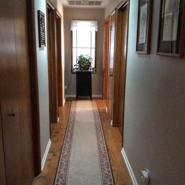 my long dark hallway needed some lights, diy, foyer, home maintenance repairs, lighting, repurposing upcycling