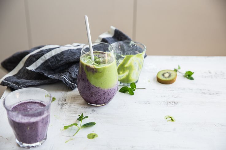 Kiwi Blueberry Mousse Smoothie - I Quit Sugar