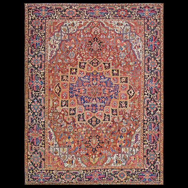 Stock Id: #5694  General Rug Type:      Persian Informal  Specific Rug Type:      Heriz  Circa: 1920  Color: Red  Origin: Persia  Width: 9' 0'' ( 274.3 cm )  Length: 11' 11'' ( 363.2 cm )