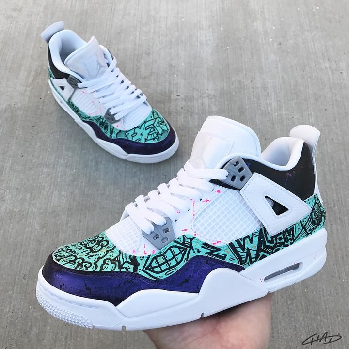 Pearl 4's - Custom Hand Painted Jordan retro 4 shoes | Sneakers ...