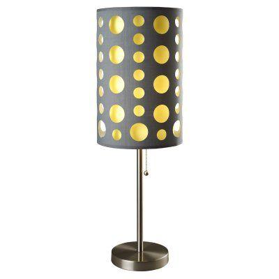 Ore International 9300T Modern Retro Table Lamp - 9300T-GY-YW