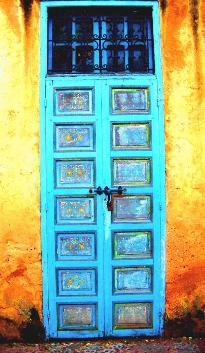 Turquoise Door ~ Morocco