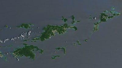 Takhle Britské Panenské ostrovy vypadaly před příchodem hurikánu Irma FOTO: NASA