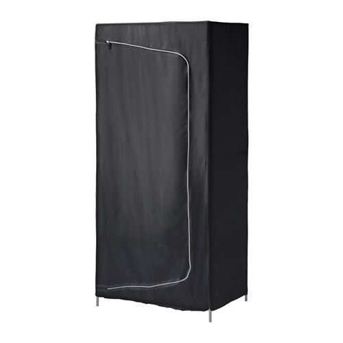 IKEA - BREIM, Wardrobe, black, , If you want to organize inside, you can complement with interior accessories from the SKUBB series.Easy to keep clean since you can remove the fabric and wash it by machine.