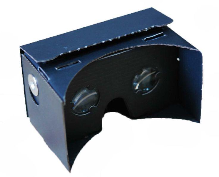 Mi3D Virtual Reality Black Cardboard Viewer Complete Kit - Inspired by Google Cardboard