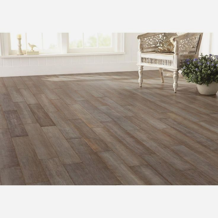 Handscraped Strand Woven Earl Grey Bamboo Flooring From Home Decorators Collection Is Sealed With A 7 Layer Aluminum O Bamboo Flooring Flooring Hardwood Floors