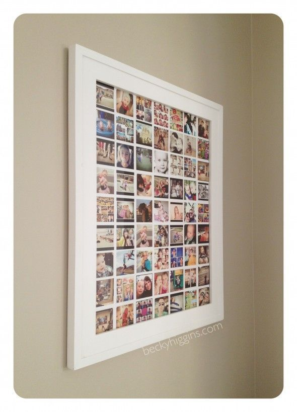 Instagram display  – it's just one picture. DIY instructions, print for only $6 @ Costco    LOVE THIS!