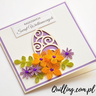 husking, DIY, easter, paperart, greetingcard, handmade, quilling.com.pl