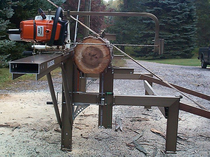 Chainsaw mills log beds | The Logosol M7 Portable SawMill