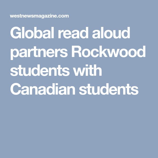 Global read aloud partners Rockwood students with Canadian students