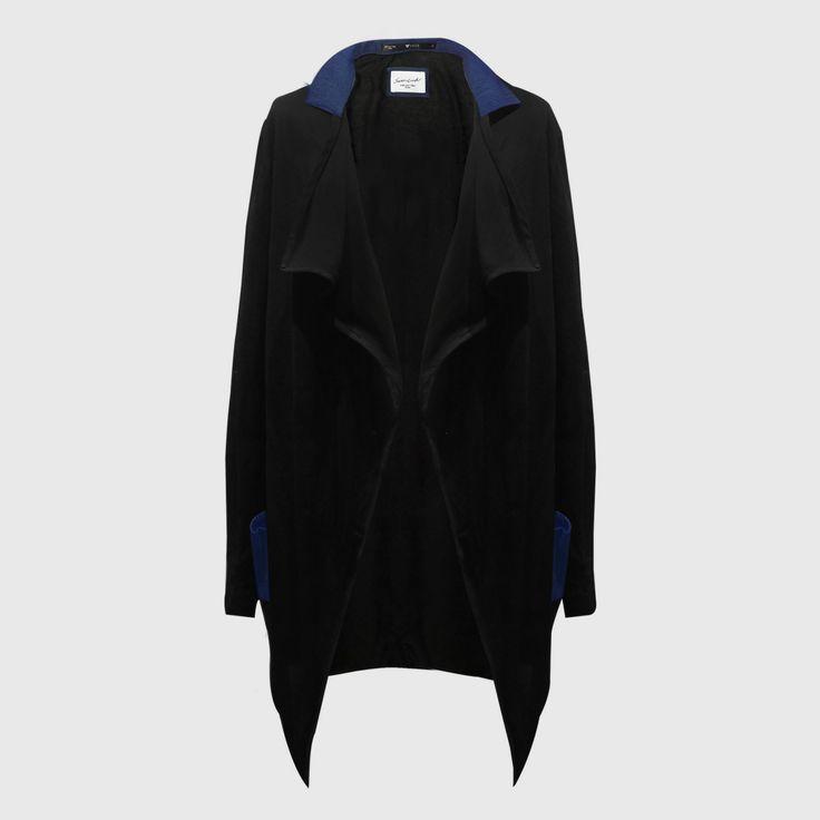 Denim Mix Tencel Long Coat