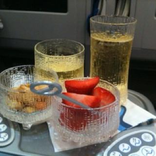 Finnair welcome drink