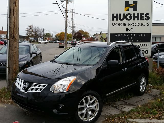 2012 Nissan Rogue CVT transmission, aluminum wheels, privacy glass, moonroof, hatch tonneau cover, rear parking aid, bluetooth hands-free phone system, AM/FM/CD/MP3 Player   auxiliary audio output, A/C, heated front bucket seats, heated mirrors, splash guards. Call Shawn 416-252-1000  info@hughesmotorproducts.com