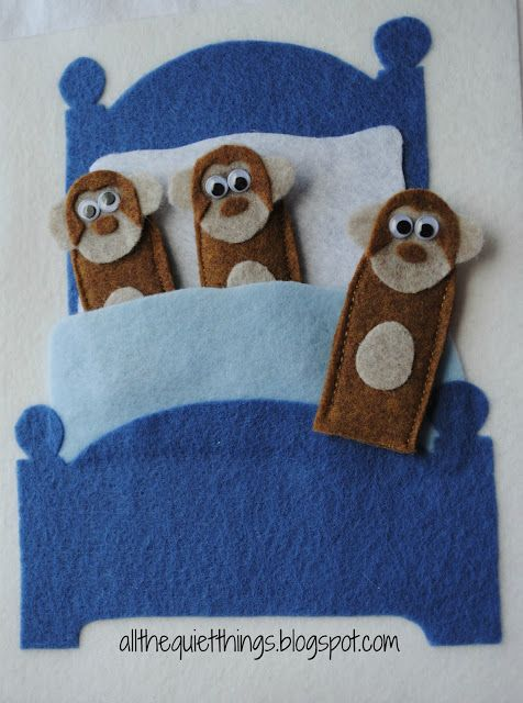 This book was great too, mostly geared to boys. Love the monkey finger puppets jumping on the bed!