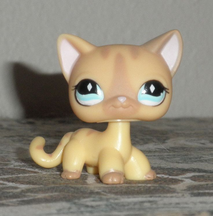 Littlest Pet Shop Shorthair Cat Grey Blue Flower Gardening Flower