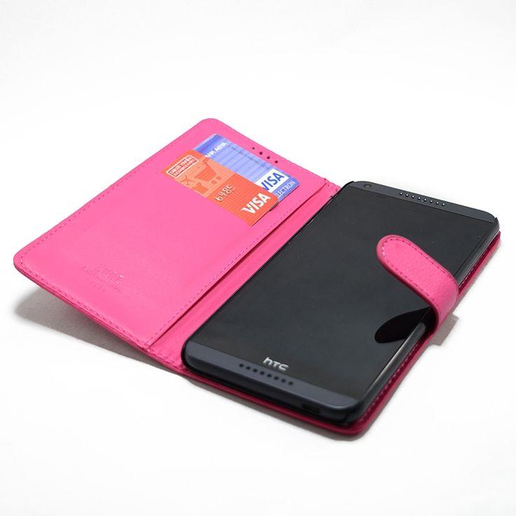 Mobilce | HTC 816 SOLA ACILAN PEMBE Mobilce | Cep Telefonu Kılıfı ve Aksesuarları