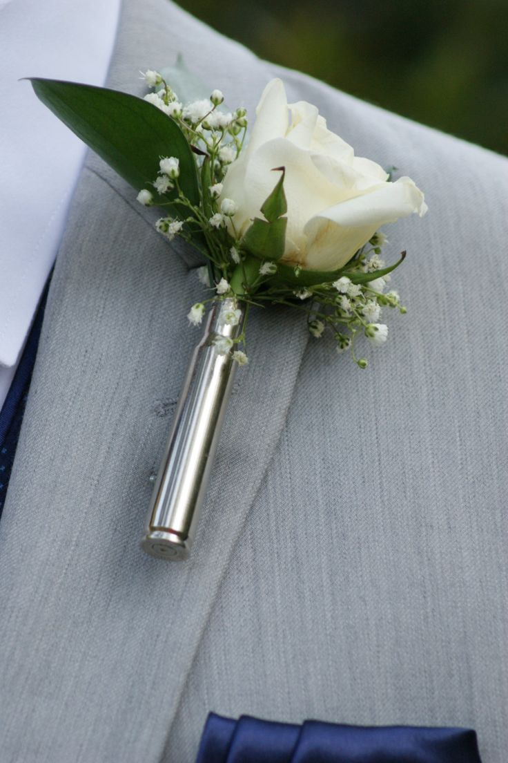 Bullet boutonniere by SouthernCharmBullet on Etsy