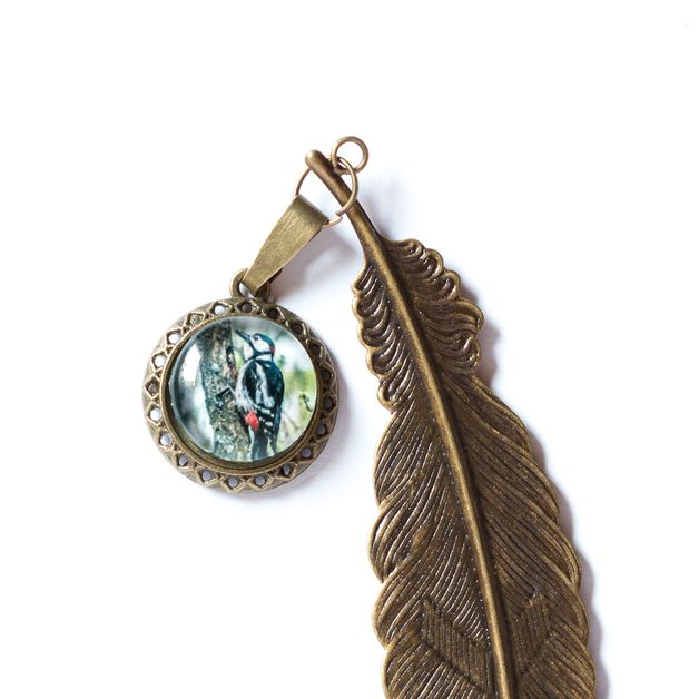 Zakładka z dzięciołem / Woodpecker Bookmark - Art-Of-Nature
