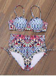 Underwire High Rise Aztec Bikini
