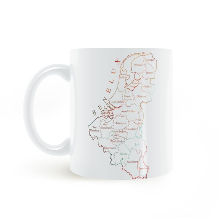 Union Economique Benelux Map Mug Coffee Milk Ceramic  Creative DIY Gifts Home Decor Mugs 11oz T160 #Affiliate