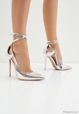 diseño innovador recogido buena textura Zapatos de Fiesta Plateados | Zapatos de moda en 2019 ...