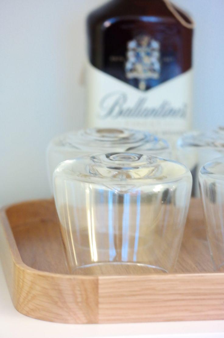 Ballentines & whiskey glass - by Sofie Dahl